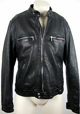 7 FOR ALL MANKIND BIKER JACKET LEATHER Herren Lederjacke Gr.L NEU mit ETIKETT