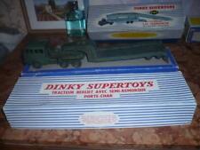 DINKY  , SUPER TOYS 890 TRACTEUR  BERLIET AVEC SEMI REMORQUE PORTE CHAR