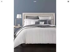 Hotel Collection Linen Ticking Stripe Duvet Cover Full/ Queen