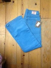 """NWT TRUE RELIGION Low Rise """"Bobby"""" Twisted Flare Women's Corduroy Jeans In AQUA!"""
