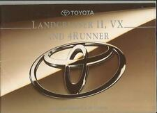 TOYOTA LANDCRUISER II, VX AND 4RUNNER SALES BROCHURE JULY 1994 FOR 1995