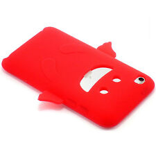 New Red Happy Angel Design Silicone Soft Case iPod Touch 4th Gen 4 Generation