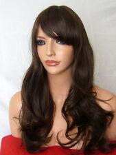 Wig Wavy Full Women Fashion natural medium brown party Ladies Wig uk G-4