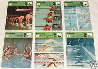 SWIMMING Sport History 1977-79 SPORTSCASTER 6 CARD LOT