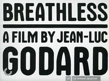 Breathless (DVD, 2007, 2-Disc Set) Criterion Collection Mint