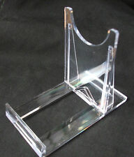 1 X LARGE CLIP TOGETHER , TWO PART  MINERAL, FOSSIL DISPLAY STANDS, PERSPEX,