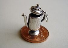 STUNNING ' COFFEE POT ' OPENING STERLING SILVER CHARM CHARMS