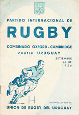 More details for uruguay select xv v oxford-cambridge comb xv 23rd sep 1956 rugby prog at uruguay