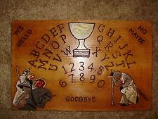"""hand made wooden ouija spirit talking board """"knights of templar"""""""