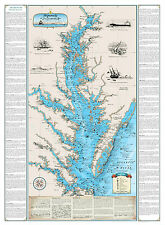 Shipwrecks of the Chesapeake Bay Chart - Nautical Art Print Map