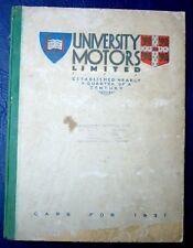 MG University Motors Range Brochure 1931 + Riley Austin