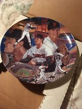 """Sports Impressions 1989 Gold Edition Baseball Plate """"Will Clark"""""""