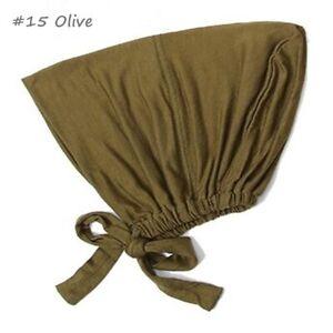 Muslim Stretch Turban Cap Inner Hijab Underscarf Bonnet Modal Cap Soft for Women