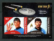 Antigua & Barbuda 2016 MNH Star Trek Original 50th Anniv 2v S/S I Spock Stamps