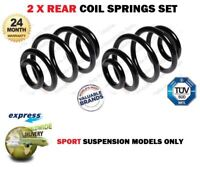 FOR BMW 33536756982 33536756981 33531095711 33531095712 2X REAR COIL SPRINGS SET