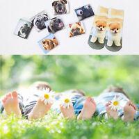 Style Women Men Animal Printed 1Pair 3D Cartoon Socks Funny Dog Short Socks