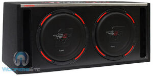 """CERWIN VEGA H6E10DV TWO 10"""" 2000W LOADED VENTED BOX SUBWOOFERS BASS SPEAKERS NEW"""