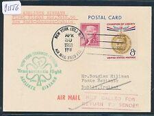 82556) Irland Ireland Aer Lingus FF New York - Dublin 30.4.58, card