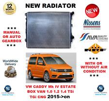 Per VW CADDY Mk IV Estate BOX VAN 1.0 1.2 1.4 Tsi TGI CNG 2015 - > Su Nuovo Radiatore