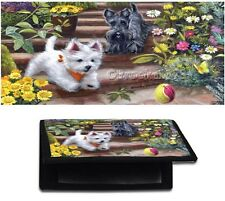 CHECKBOOK cover Westie wallet dog ART black standard check book or side tear