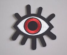 red eyeball tattoo wicca occult goth punk retro applique iron on patch