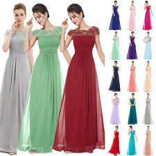Chiffon Lace Wedding Evening Formal Party Ball Gown Bridesmaid Dress Size 6+++18