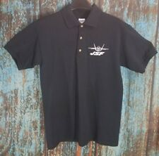 JSF EMBROIDERED JET FIGHTER S SMALL BLACK POLO SHIRT JOINT STRIKE FIGHTER A170