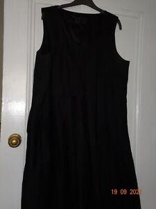 NOM D NZ Designer Size 14 Black Shift Dress NEW