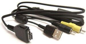 OEM Sony DSC-T10 VMC-MD1 W90 W200 W300 Cyber-shot Camera USB & A/V Combo CABLE