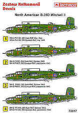 Techmod 1/72 norte-americano B-25D Mitchell # 72017