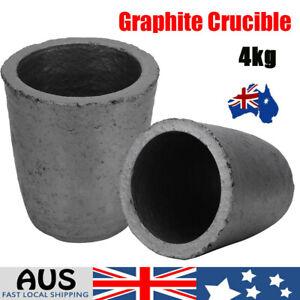 4KG Graphite Crucible Furnace Casting Gold Silver Copper Melting Smelting AU