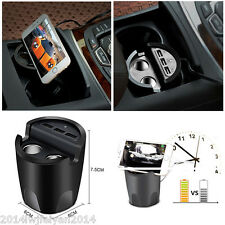 USB Car Charger Cup Holder Designed 3 USB Port with 2 Cigarette Expansion Output