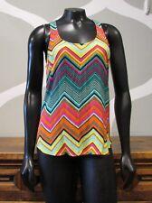 ELLA MOSS Multi Color Zigzag Striped Rayon Knit Tank Top - XS