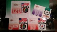 Prepaid Phone Cards GTI World Soccer USA Collection of 3 varied units of USA