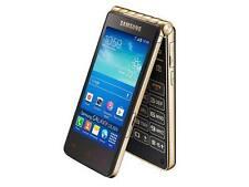 "Unlocked Samsung Galaxy Golden GT-I9235 Gold 8MP 3.7"" 4G LTE Flip Smartphone"