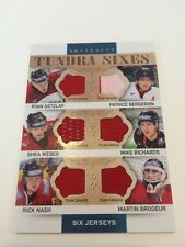 2014-15 Artifacts Tundra Sixes Team Canada #T6-TC Six Jersey Pieces!