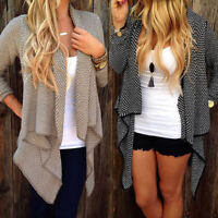 Womens Winter Irregular Sweater Long Cardigan Coat Knitted Jacket Jumper Outwear