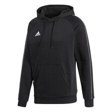 Adidas Núcleo 18 Sudadera con Capucha de Hombre Algodón Tela Mezclada Negro