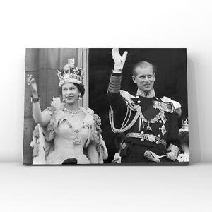 Celebrities canvas wall art Queen Elizabeth II and the Duke of Edinburgh