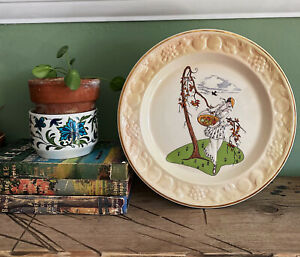 Vintage Royal Worcester Plate Decorative Palissy Constance Deco Style Display