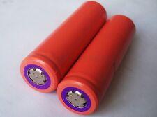 2 Pcs original Sanyo 18650 2700mAh 3.7v Flat Top Li-Ion Battery Cell Power