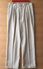 Eddie Bauer Mens Pleated Cuffed Pants Cotton Nos 38 x 33 Sand 4
