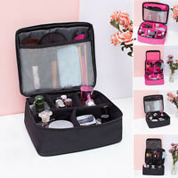 Women Large Makeup Bag Cosmetic Case Storage Handle Travel Organizer Pouch