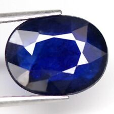 5.71Ct. Big Sapphire Natural Oval Facet Blue Good Color Majestic! Madagascar