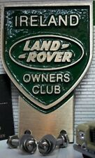 Land Rover Irland Irisch Owner´s Club Messing Grill Stoßstange Emblem