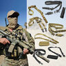 Adjustable Tactical Sling QD 1 or 2 Point Bungee Quick Release Detach Hunting
