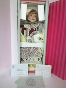 """TESSA COA #291 MARIE OSMOND PORCELAIN DOLL 24"""" NEW AND NEVER REMOVED FROM BOX"""