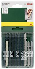 Bosch 10pc Jigsaw Blade Set For Bosch T Shank Jig Saw Metal Plastic Wood Blades