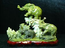 FACTORY SALE: REAL JADE 3 ELEPHANTS MOUNTAIN (J150)