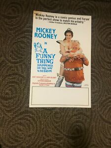 "THEATER POSTER MICKEY ROONIE A FUNNY THING HAPPENED .... 14"" X 22""  FLAT"